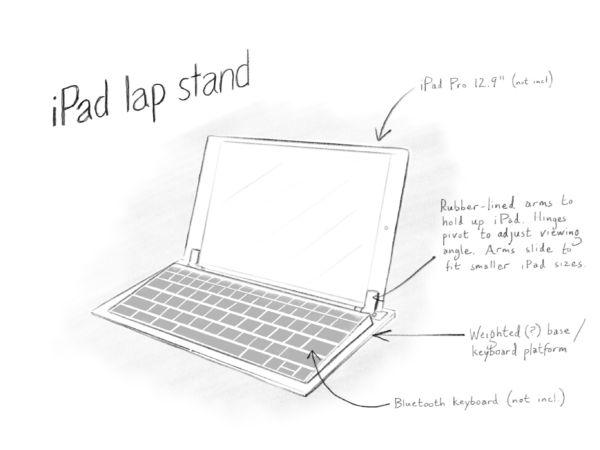 iPad lap stand design
