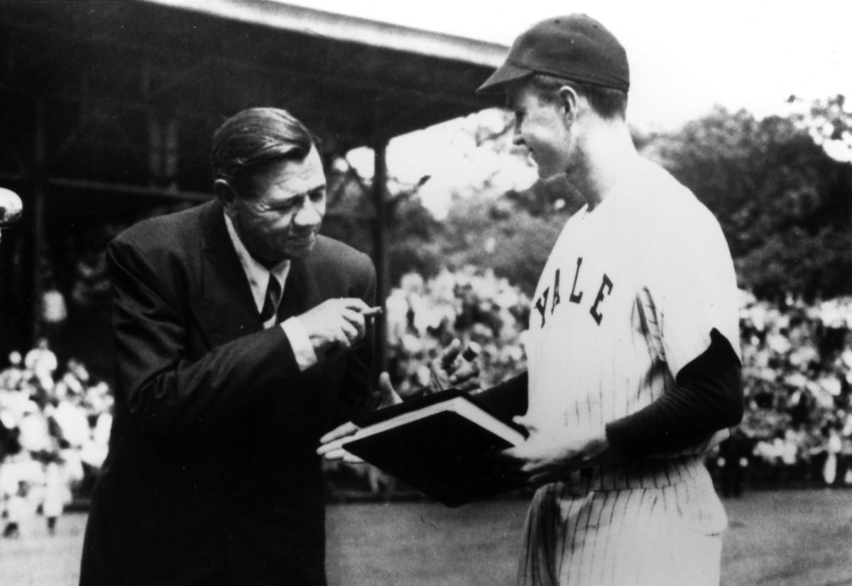 Babe Ruth meets George H. W. Bush.
