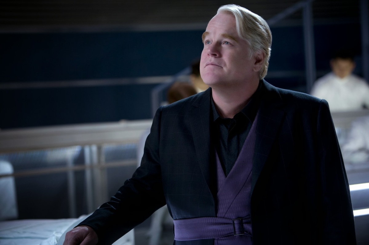 "Philip Seymour Hoffman in ""The Hunger Games"" trilogy"