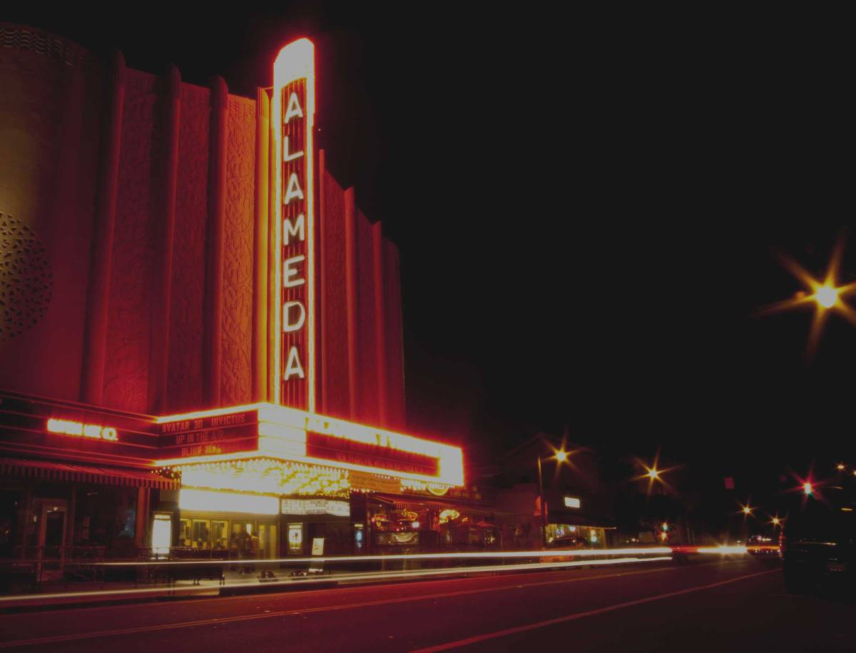 Alameda Movie Theater at Night