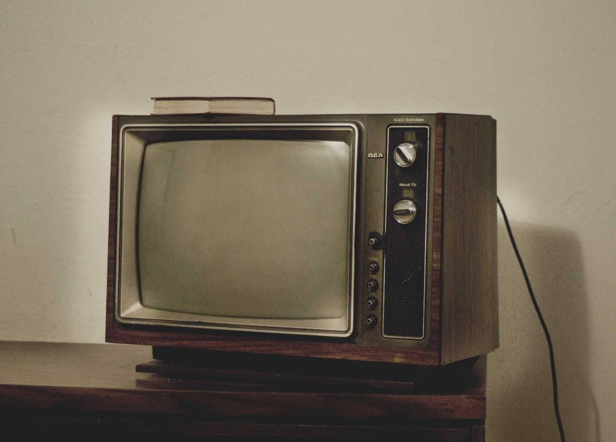 """Yet another shot of the old tv in chinook motel"" by gothopotam."