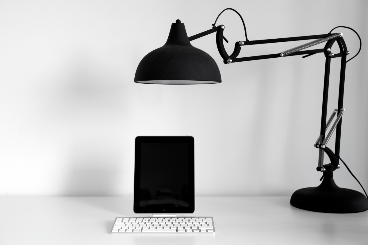 iPad and desk