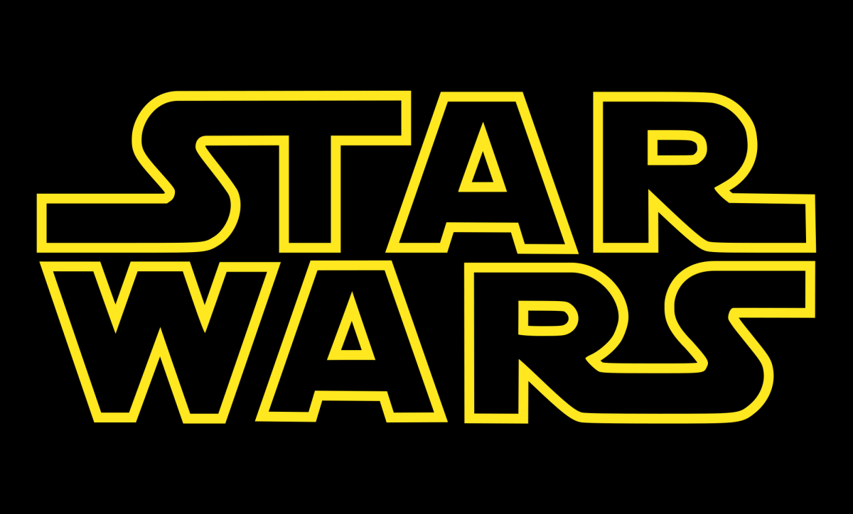 The Star Wars title card.