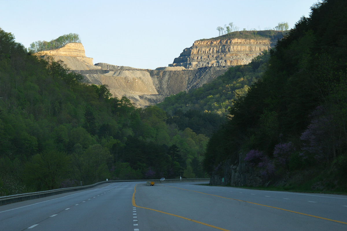 Mountaintop removal mine